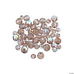 Smokey Quartz Aurora Borealis Round Crystal Beads - 4mm-6mm