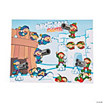 Snowball Fight Sticker Scenes