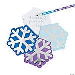 Snowflake Foil Notepads