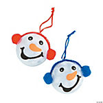 Snowman Head Ornament Christmas Craft Kit