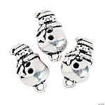 Snowman Large Hole Beads - 18mm