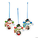 """2013"" Snowman Picture Frame Christmas Ornaments"