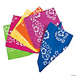 Solid Bandanas With Hibiscus Print