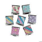 Square Glitter Beads - 12mm