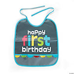 1st Birthday Boy Chalkboard Bib