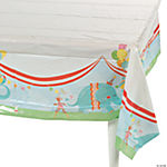 1st Birthday Circus Tablecloth