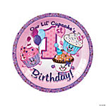 1st Birthday Cupcake Dinner Plates