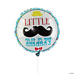 1st Birthday Lil' Man Mylar Balloon