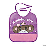 1st Birthday Miss Sock Monkey Bib