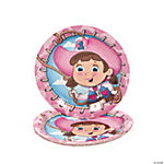 1st Birthday Pink Cowgirl Dinner Plates