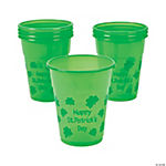 St. Patrick's Day Disposable Plastic Cups