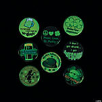 St. Patrick's Day Glow-in-the-Dark Party Buttons