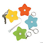 Star Measuring Tape Key Chains