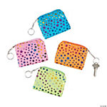 Star Print Coin Purse Key Chains