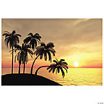 Sunset Beach Backdrop Banner