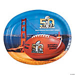 Super Bowl 2016 Oval Plates