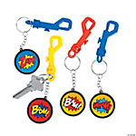 Superhero Backpack Clip Key Chains