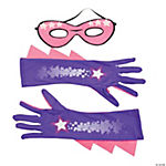 Superhero Mask & Gloves Set For Girls