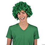 Team Spirit Green Afro Wig