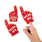 Team Spirit Red Mini Foam Fingers