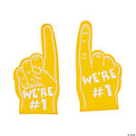 Team Spirit Yellow Mini Foam Fingers