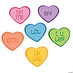 Text Conversation Hearts Magnet Craft Kit