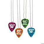100th Day of School Guitar Pick Necklaces