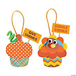 Thanksgiving Cupcake Ornament Craft Kit
