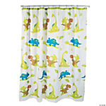 That's How We Rawr When Dinosaurs Roamed the Bathroom Shower Curtain