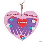 These Hands Hold My Heart Handprint Sign Craft Kit