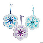 Thumbprint Snowflake Christmas Ornament Craft Kit
