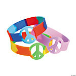 Tie-Dyed Peace Sign Bracelets