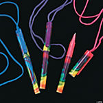 Tie-Dyed Pens on A Rope