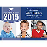 Triple Image Graduation Custom Photo Invitations