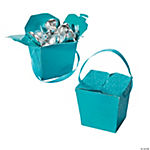Turquoise Glitter Take Out Boxes