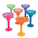 Two-Tone Neon Margarita Glasses