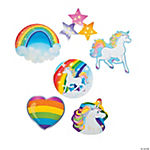 Unicorn Party Glitter Cutouts