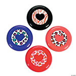 Valentine Animal Print Mini Flying Disks
