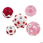 Valentine Lampwork Rounds - 10mm-17mm