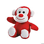 Valentine Plush Monkey with Sound