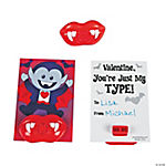 Valentine Vampire Lip Whistles on Card