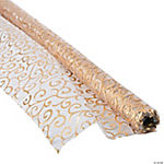 Victorian Gold Printed Fabric Roll