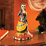 Vintage Day of the Dead Skeleton Girl Statue