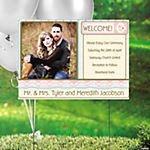 Vintage Wedding Custom Photo Yard Sign