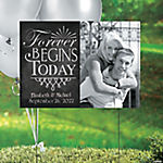 Vinyl Simply Timeless Custom Photo Yard Sign