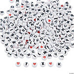 White Round Alphabet Bead Assortment - 1/4