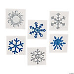 Winter Snowflake Glitter Tattoos