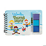 Winter Thumbprint Sticker Books