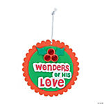 Wonders of His Love Christmas Ornament Craft Kit