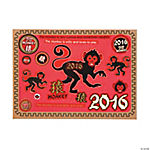 Year of The Monkey Mini Sticker Scenes